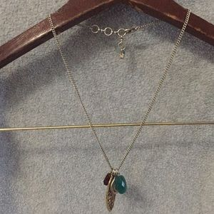 Lucky Brand Wing and snake necklace